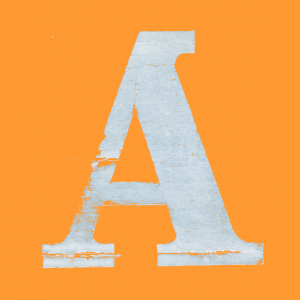 Et stort A for Apotheket - på orange baggrund. Vores lille kendetegn i browservinduet, indtil videre.